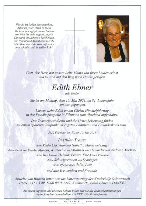 Edith Ebner