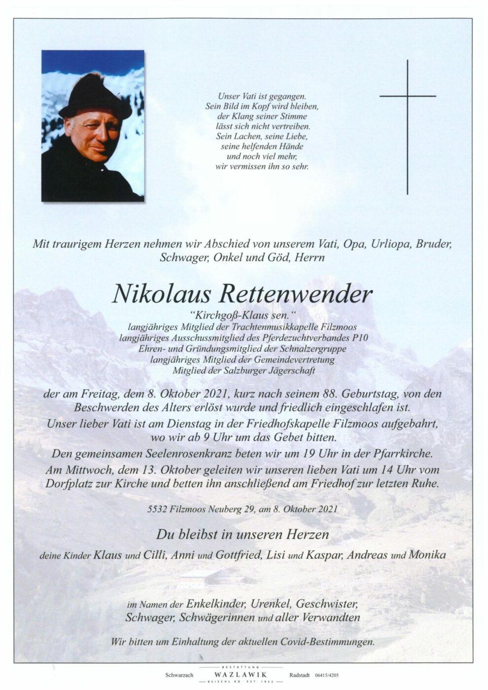Rettenwener Nikolaus