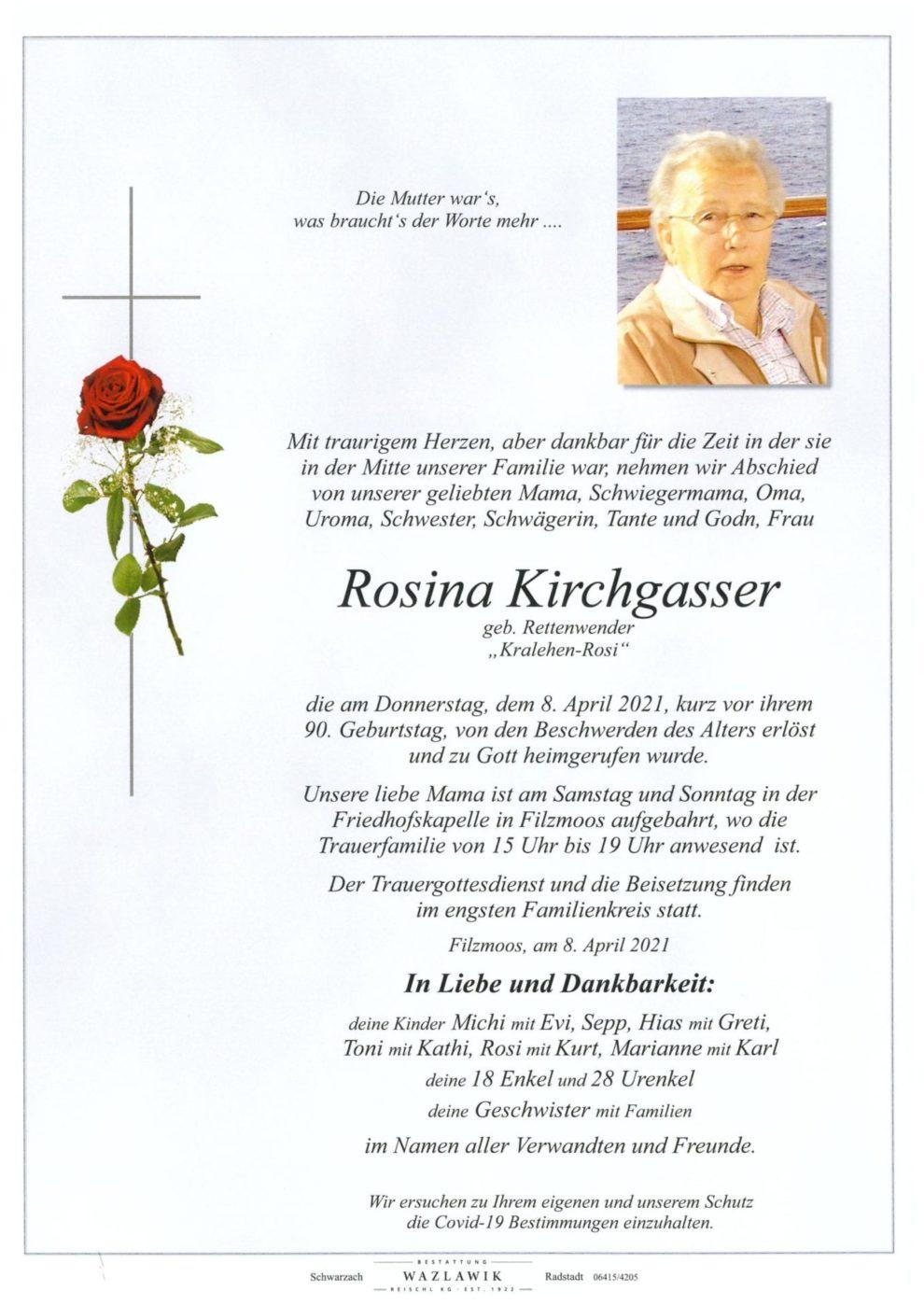 Rosina Kirchgassesr